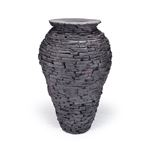 Large Stacked Slate Urn Fountain 2