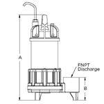 2500 GPH SH Pump,WGFP-33 2