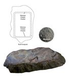 "Atlantic Rock Lid - Mountain 34""L x 24""W x 5""H-2"