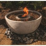 Fire Fountain Water Feature for Patios, Decks, and Gardens, 24-Inch