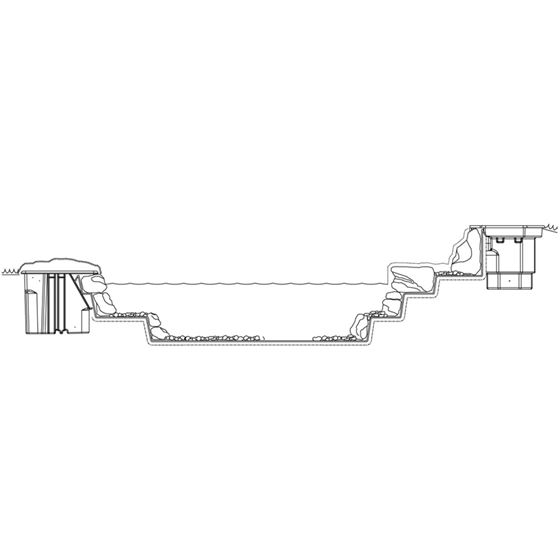 Pond Skimmer, with 6-Inch Weir Door, Net and-4