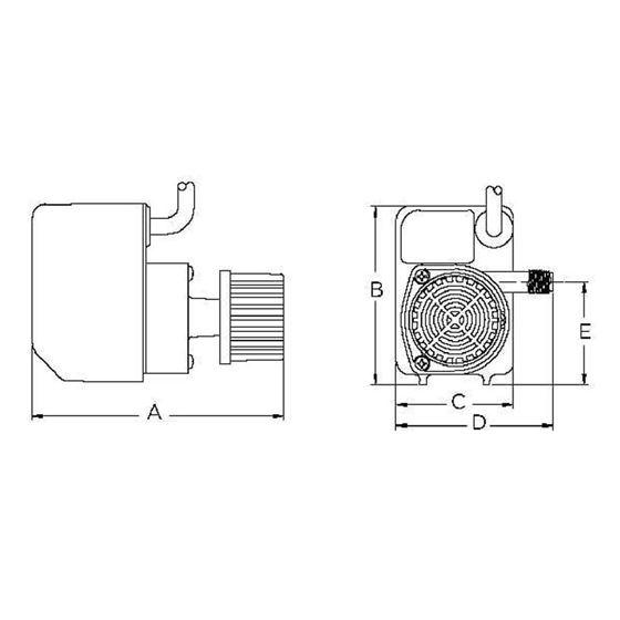 PE-1F-PW 170 GPH DD Pump,15 2