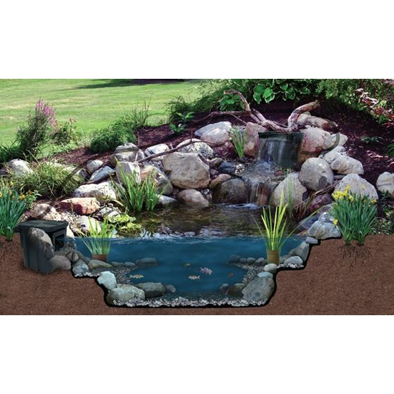 Pond Filter and Waterfall Spillway, 26-Inch -4