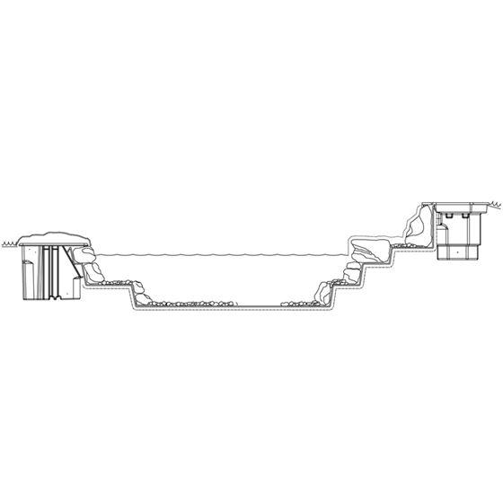 Pond Skimmer, with 6-Inch Weir Door, Net and -4