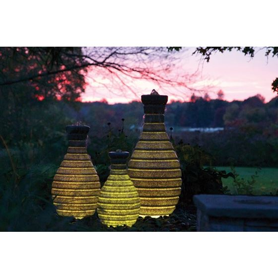 Color Changing Vase Fountain with Remote and -2