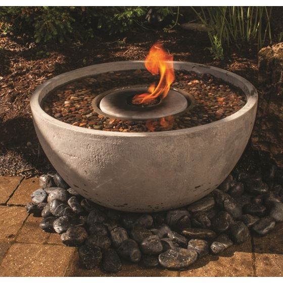 Fire Fountain Water Feature for Patios, Decks, and Gardens, 28-Inch