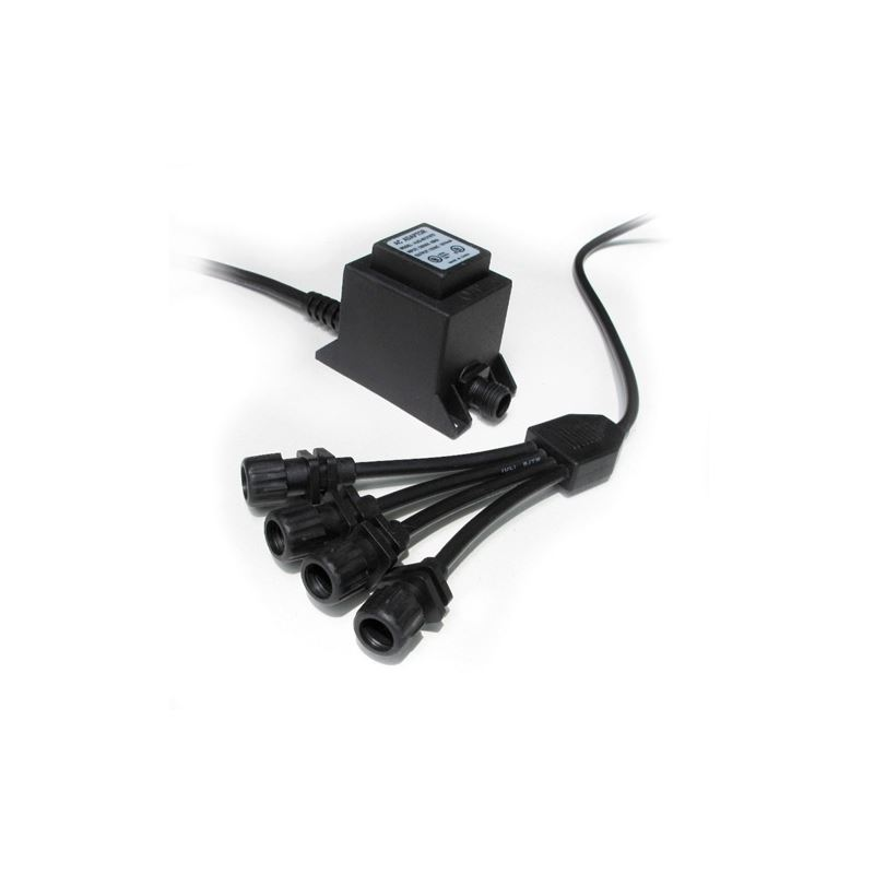 20 watt transformer w/4-way adapter