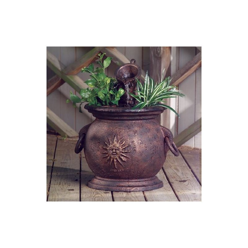 Copper Kettle with Planter