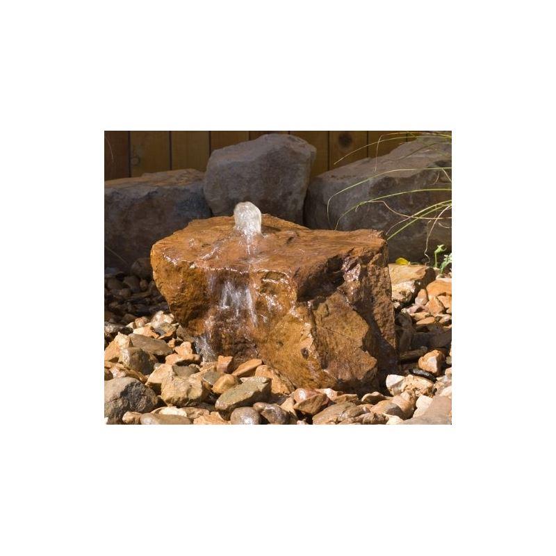Mesa Decorative Outdoor Bubbler Rock w Natural Fin