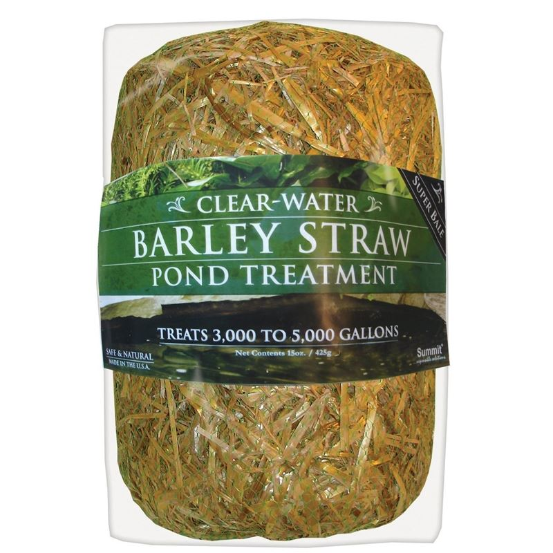 Clear-Water Barley Straw Bale 15 oz, Treats up to