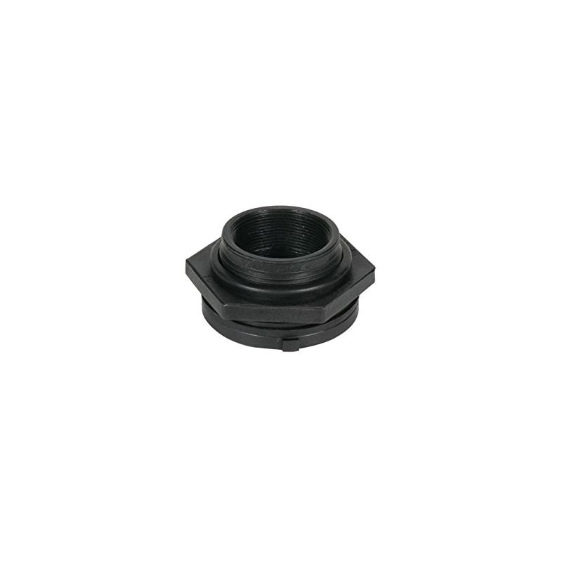 99124 Black Poly Bulk Head Fitting 1 And For Pond