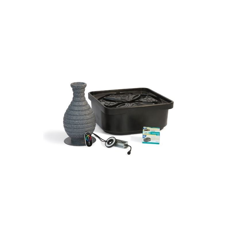 Fountain Kit, Color Changing Vase with Pump and Ba