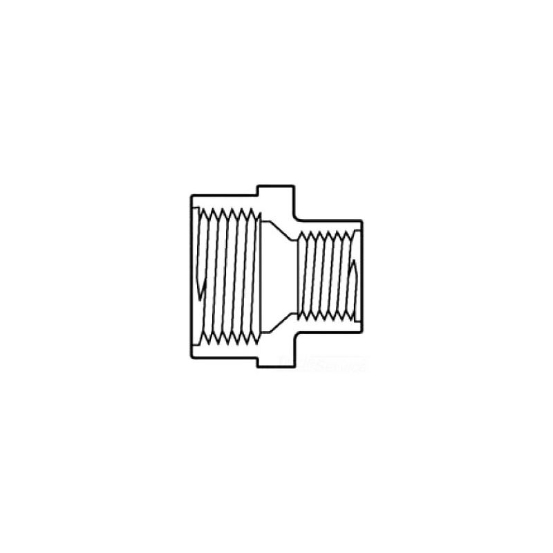 """3/4"""" x 1/2"""" Threaded Couplings (FPT x FPT)"""