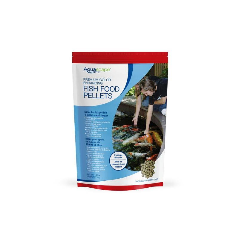 Premium Color Enhancing Fish Food Pellets 2 kg / 4